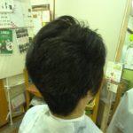 キュビズムカット くせ毛 ① 170503