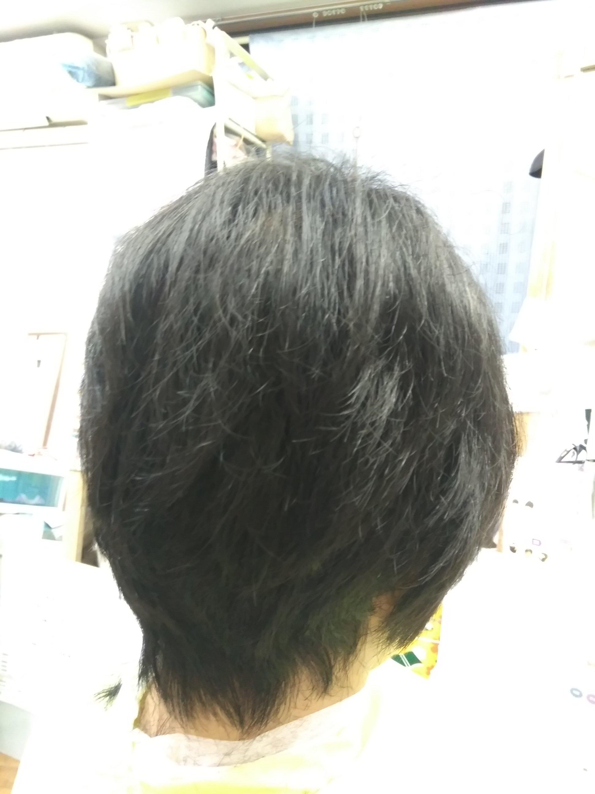 キュビズムカット くせ毛 ① 200817