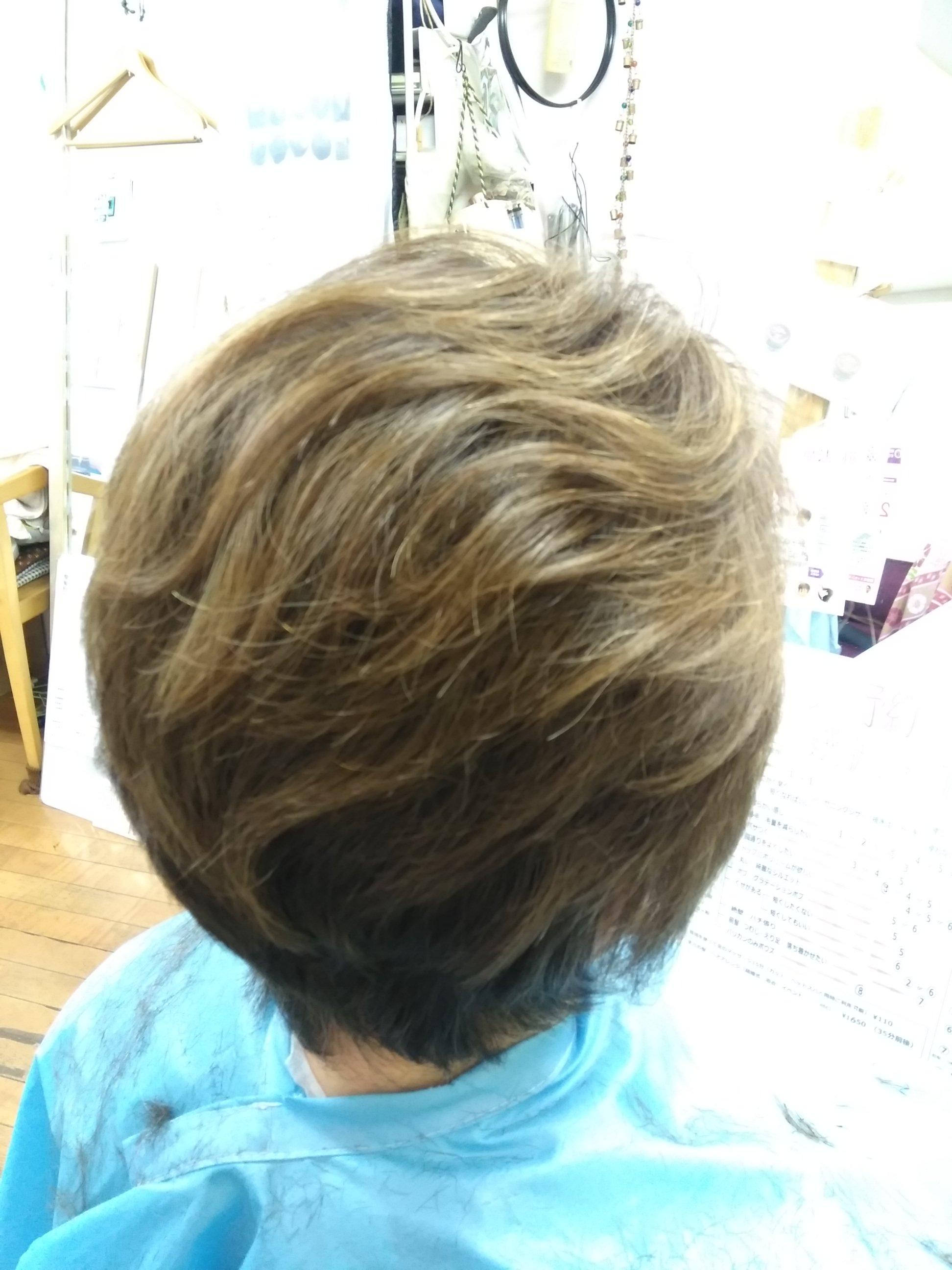 キュビズムカット くせ毛 ⑤ 210415