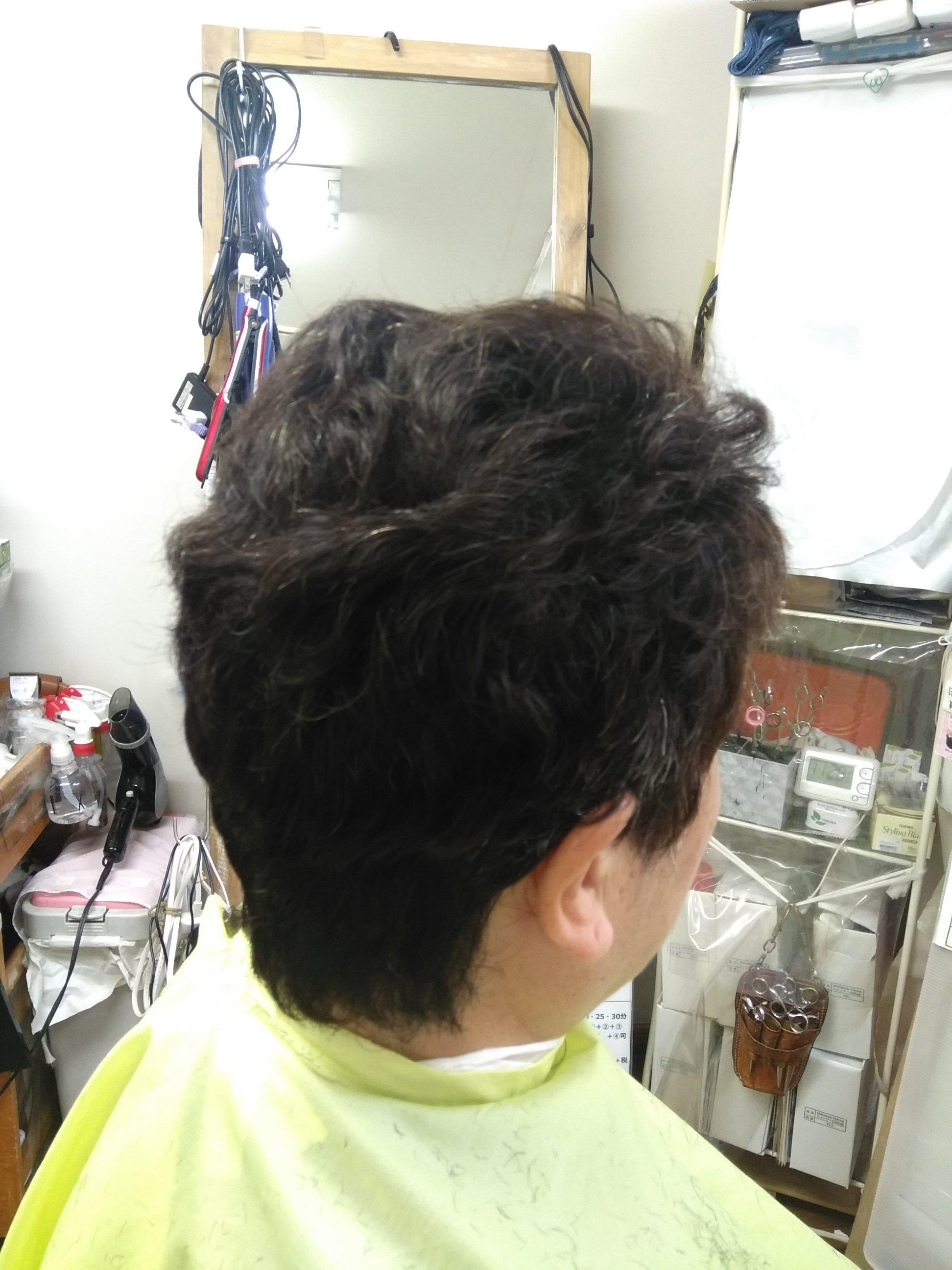 キュビズムカット くせ毛 ② 211024